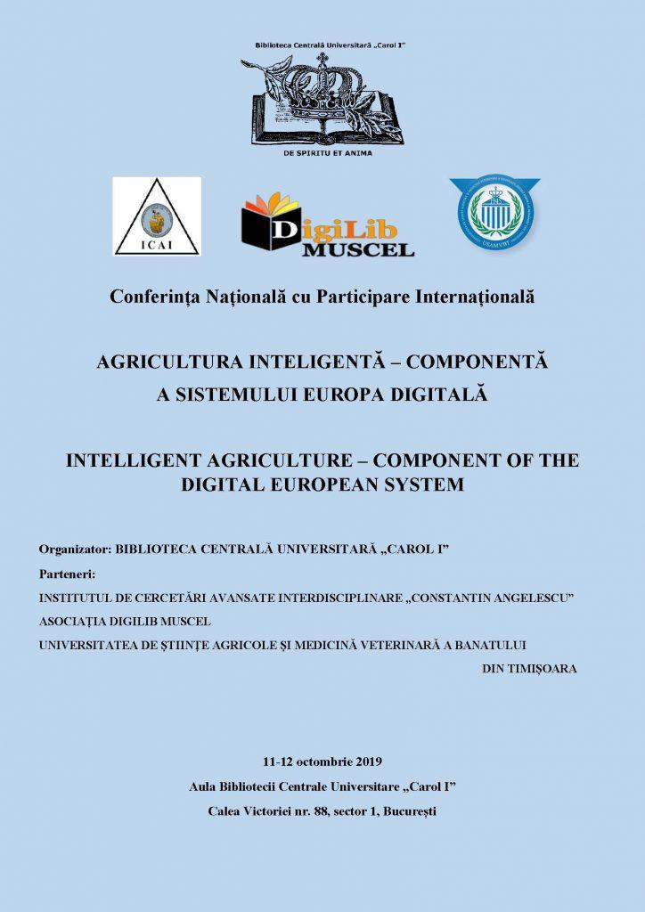 Afis eveniment Agricultura Inteligenta